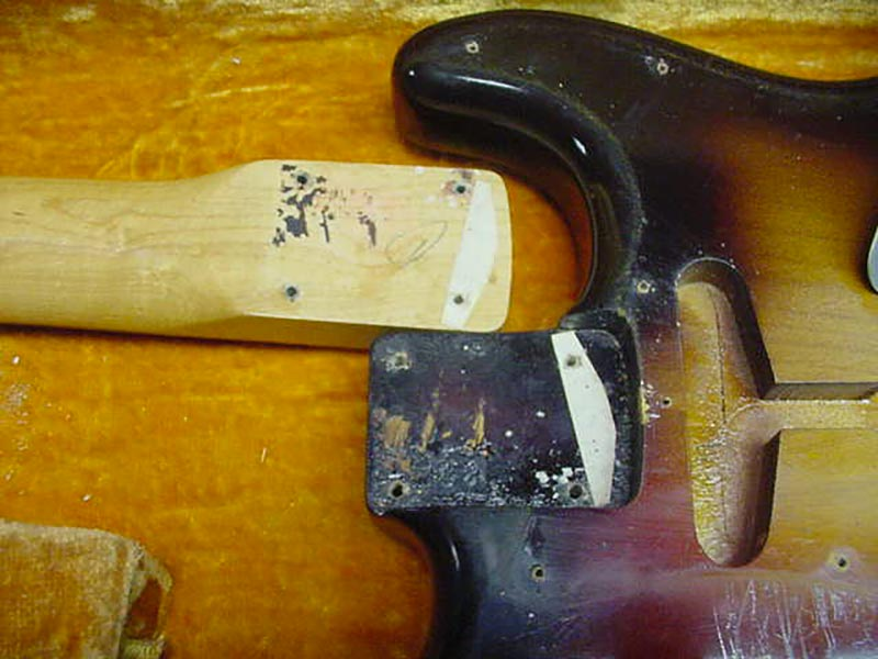 1960 Fender Stratocaster neck pocket