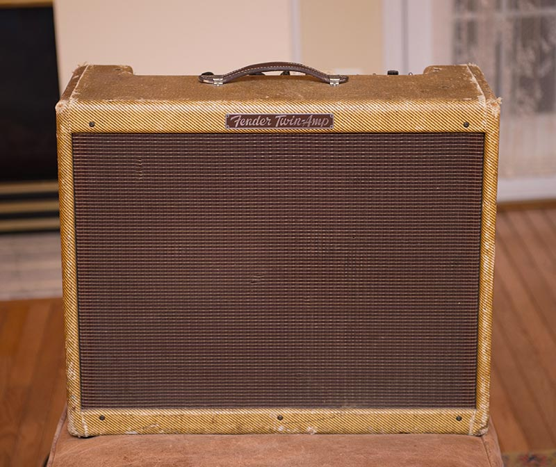 1955 Tweed Twin 5D8 Narrow Panel Low Power Amp
